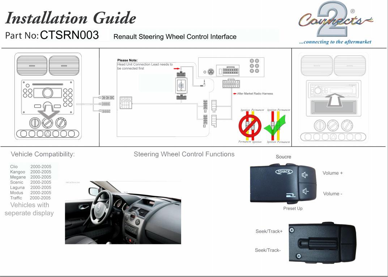 Renault Clio Megane Fitting Kit  U0026 Steering Wheel Adaptor
