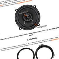 Vodič za montažo koaksialnih zvočnikov